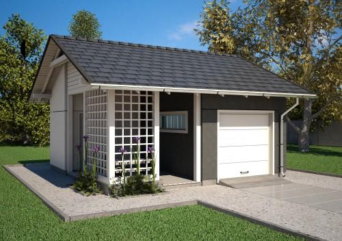 Projekt Garażu K21 - NA ZGŁOSZENIE