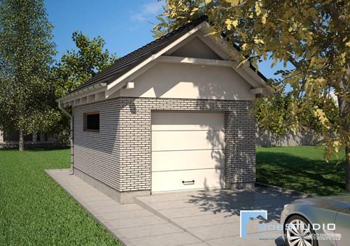 Projekt Garażu Jednostanowiskowego T1 - NA ZGŁOSZENIE