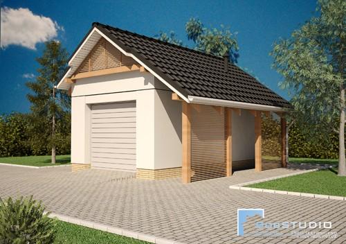 Garaż Jednostanowiskowy P1 - PROJEKT NA ZGŁOSZENIE