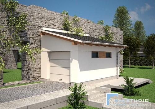 Garaż z Dachem Jednospadowym D1 - PROJEKT NA ZGŁOSZENIE