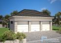 Projekt Garażu Trzystanowiskowego R1