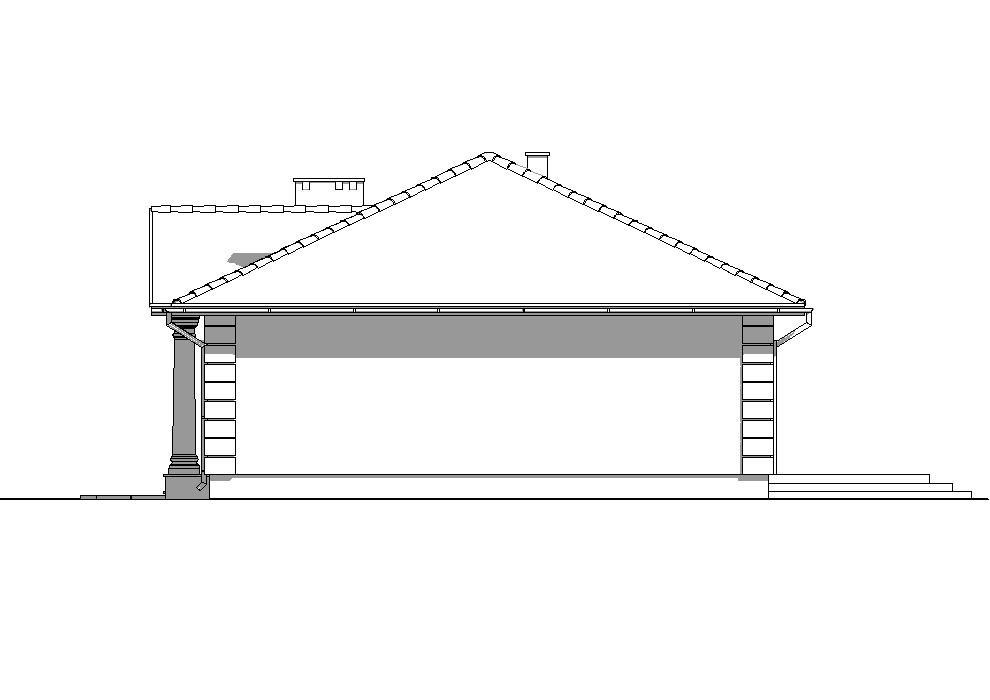 Projekt Domu -DWOREK POLSKI B668 *Energooszczędny  - elewacja prawa